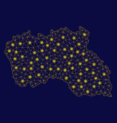Yellow mesh carcass santa maria island map with vector