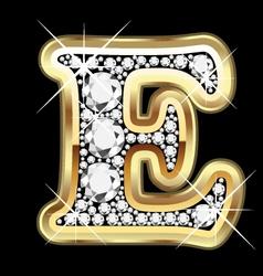 e gold and diamond vector image vector image