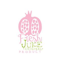 fresh juice original product logo template vector image