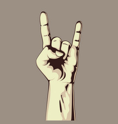 hand in rock sign vector image