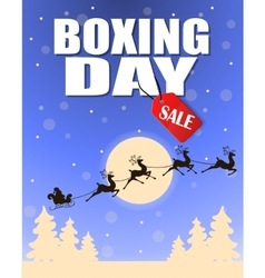 Vintage Boxing Day design vector image vector image