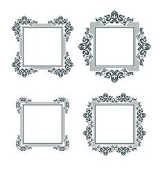 vintage frame set two vector image