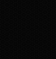 Black abstract seamless circle pattern vector image vector image