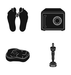 corpse safe and other web icon in black style vector image vector image