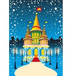 fairy princess castle vector image