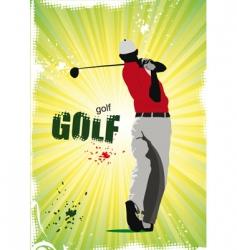 golf poster vector image