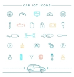 Internet Of Things For The Car Icons vector image