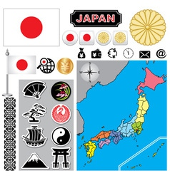 Japan map vector image vector image