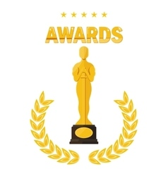 Oscar film festival awards vector