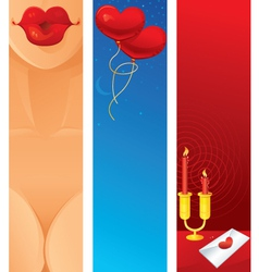Romantic Vertical Web Banner vector image