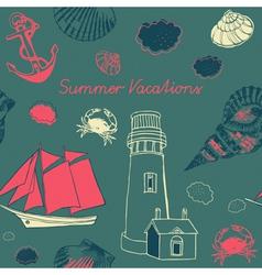 Sea Coast Vacation Background vector image