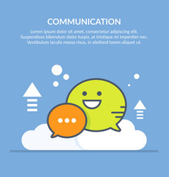 Speech bubble communication concept flat vector