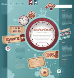 Vintage and retro web design elements vector image vector image