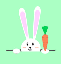 white easter rabbit easter bunny vector image