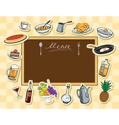 board food vector image vector image