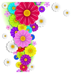 bright flowers vector image vector image