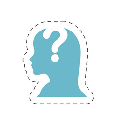 head female question mark image vector image