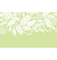 White flowers and leaves horizontal seamless vector image vector image