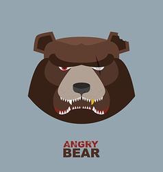 Angry bear head mascot Bear head logo for Hockey vector image vector image