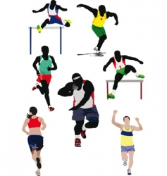 athletics vector image vector image
