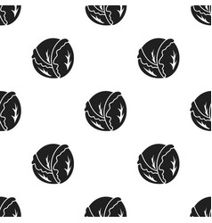 cabbage icon black singe vegetables icon from the vector image vector image