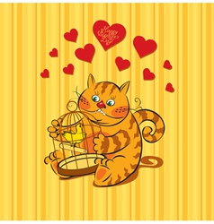 cat love vector image vector image