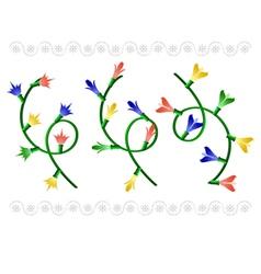christmas garlands vector image vector image