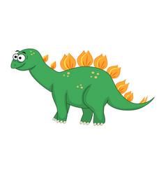 cute cartoon stegosaurus of vector image