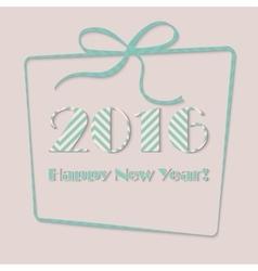 Happy new year 2016 in present vector image vector image