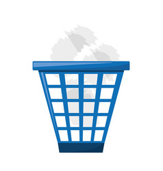 isolated trash can vector image
