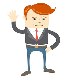 Office man waving vector image vector image
