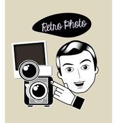 retro photo design vector image