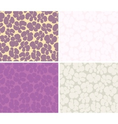 Seamless background with orchids vector image vector image