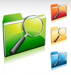 search folder vector image vector image