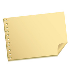 sheet of a note vector image vector image
