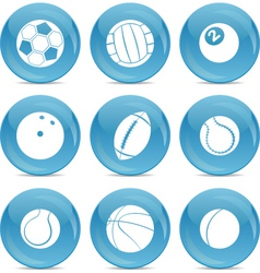 sports balls icon vector image vector image