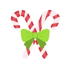 Traditional celebratory christmas lollipops with vector