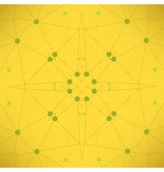 Yellow Particlem Background Molecule Structure vector image vector image