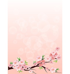 A flowery designed paper vector