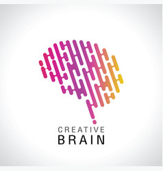 abstract colorful brain logo vector image