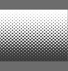 Abstract halftone black hexagon isolated on white vector