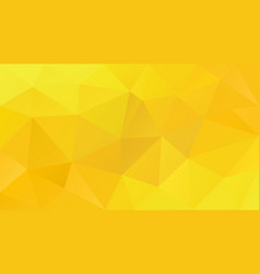 abstract irregular polygonal background yellow vector image
