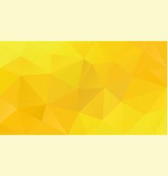 Abstract irregular polygonal background yellow vector