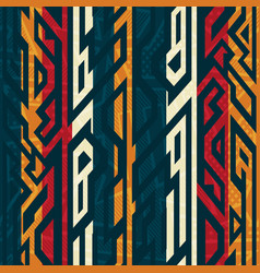 African geometric pattern vector
