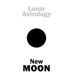 Astrology new moon vector