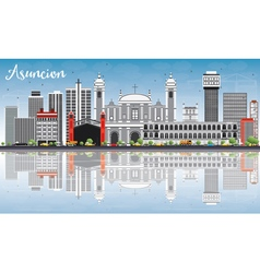 Asuncion Skyline with Gray Buildings vector