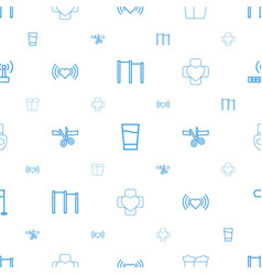 Background icons pattern seamless white vector
