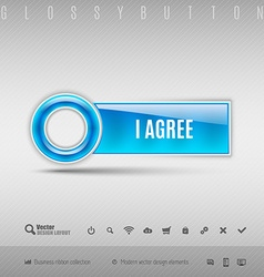 Blue Plastic Button vector