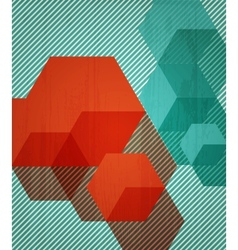 Book cover background design Retro style vector