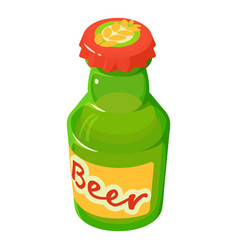 bottle of beer icon isometric style vector image